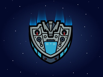 Dailyicon day 05 challenge - create an icon of a childhood toy spaceship space retro toy toys iconsets icons vectors illustration illustrator dailyicon