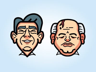 Dailyicon day 06 challenge - Guess these characters illustrator character characters vector svg politicians leaders world cartoon drawing icon icons