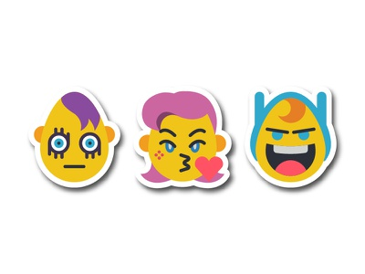 Dailyicon day 09 challenge - Create Emoji stickers icons dailyicon illustrator characters vector svg emojis emoji smiley cartoons drawing icon icons