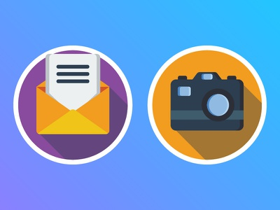 Dailyicon day 12 Create 2 user interface icons mobile userinterface ui coffee iconsets photography camera email mail flaticons icon