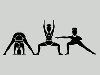 Dailyicon day 13 Create 3 Yoga Glyph icons