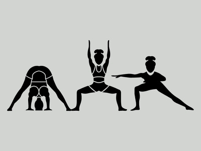 Dailyicon day 13 Create 3 Yoga Glyph icons icons icon solid glyph body iconsets characters positions yoga