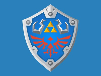 Dailyicon day 15 Create an icon from my favourite video game wiiu games switch link shield nintendo zelda videogames icon