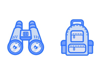 Dailyicon day 17 -  Create 2 camping icons icons rucksack spy iconsets scouts camping backpack binoculars icon dailyicon
