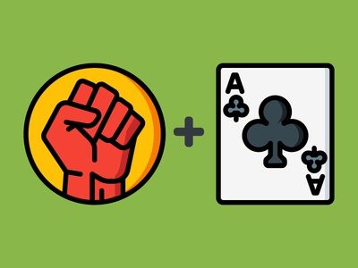 Dailyicon day 19 - Lets play Charades cards charades games play fist fun icons iconsets iconchallenge dailyicon