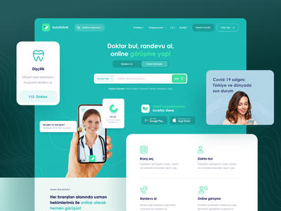 Bulutklinik Web Design examination product hospital doctor ui web design app health app healthcare health