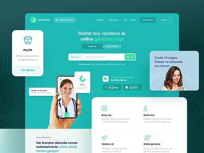 Bulutklinik Web Design examination product hospital doctor ui web design app health app healthcare health