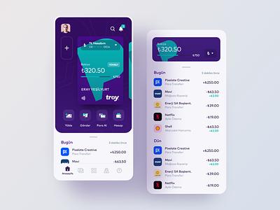 Param - Mobile Banking App mobile banking digital banking credit card finance product app money ux ui banking wallet