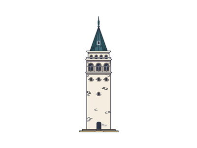 Galata Tower / İstanbul i̇llustration vector line istanbul bosphorus landmarks building tower architecture city design icon
