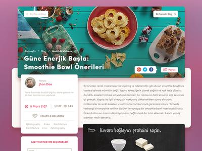 Food Blog Page