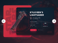 Star Wars /  Kylo Ren's Lightsaber UI