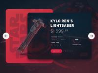 Star Wars /  Kylo Ren's Lightsaber UI