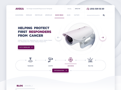 Security Systems Company / Home Page Design clean website ui design web design security web design ux ui