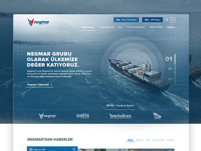 Shipping Investment Inc. / Web Design shipping web design ui ux web design ui design website corporate ship