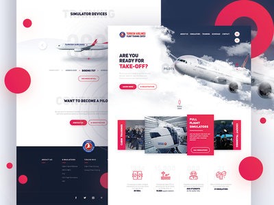 Turkish Airlines FTC /  Web Design : Remastered airlines web design ui design ui web design airway training flight plane website