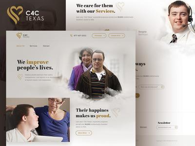 C4C Texas / Home Page Design