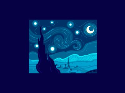 The Starry Night (Vincent Van Gogh