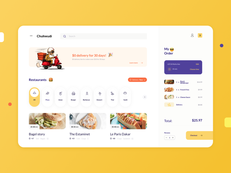 R+R : Food Delivery ux ui product mobile app