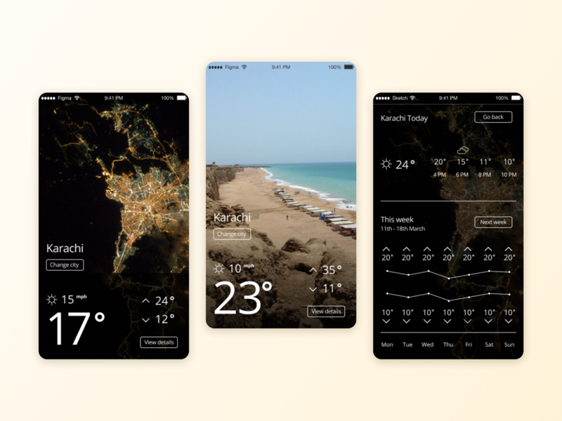 R+R : Weather ux ui product mobile app