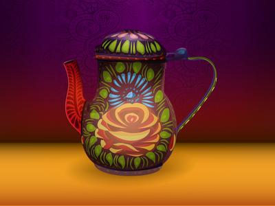 Chainak - (Traditional tea kettle) - Vector