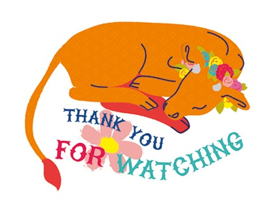 Thank You For Watching illustration