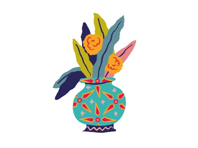Ceci n'est pas un flowerpot I drew today vector flowers colorful plants illustration