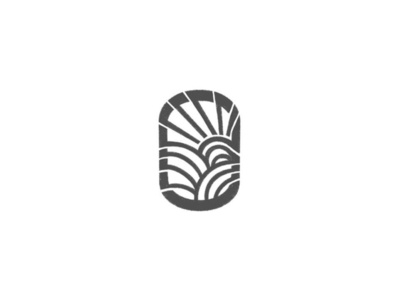 The fields and the sun  - by @anhdodes minimal icon illustration design typography simple logo logo design inspiration branding