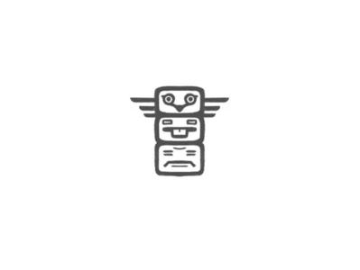 Little Totem by @anhdodes totems totem minimal lettermark illustration design typography logo design logo inspiration branding