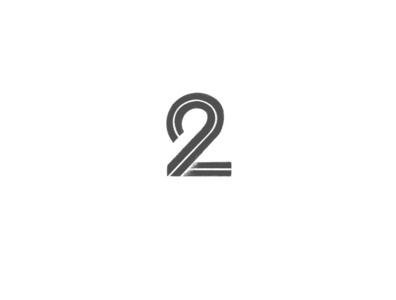 Number 2 simple lettermark minimal illustration typography design logo design logo inspiration branding number 2