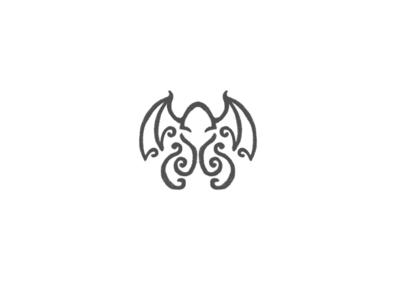 Cthulhu minimal illustration vector logo lettermark logo design inspiration branding logodesign mythical creature mythology mythical