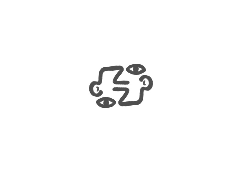 Double Faces vector lettermark illustration minimal typography design logo design logo inspiration branding faces