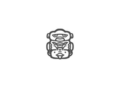 Gorilla Crocodile Duck Totem Logo Design simple logo simple illustration minimalist minimalist logo logo design logodesign branding branding design brand identity brand design totem logo totem duck duckling duck logo crocodile logo crocodile gorillas gorilla logo gorilla