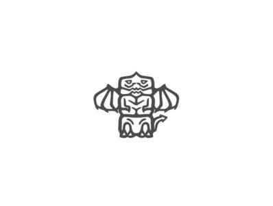 The Dragon Totem Logo Mark Design illustration branding branding design brand identity brand design graphic  design graphicdesign illustrations illustration art simple design simple illustration simple logo logo design logodesign totem logo totem pole totem dragon logo dragons dragon