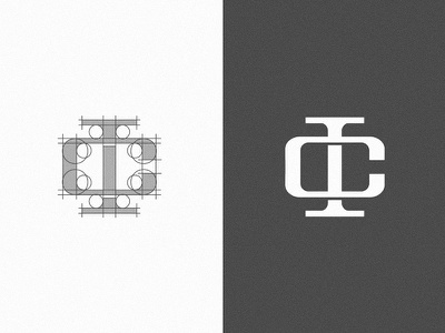 The construction of I C monogram brand identity branding logo mark logo designer logo designs logo design logodesign brand identity design logo simple logo design branding design minimal logo design minimal logo minimal logos minimalist logo design minimalist logo monogram monogram logo monogram letter mark monogram design