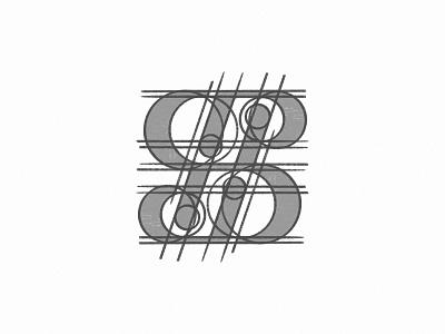The grid of J S P B monogram logo mark design (sketching) minimal logo simple logo design icon typography illustration vector design branding logo logo design