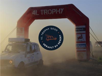 "4l logo for the amazing ""4L Trophy"" graphicdesign fun desert morocco 4l trophy car logo raid logo adventure"