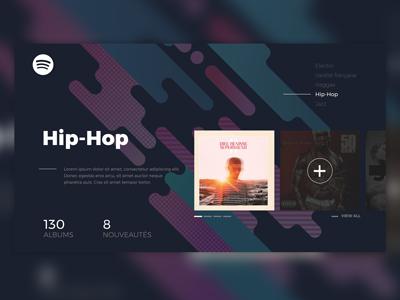 Daily UI #003 - Landing Page music hip hop landing page dayli ui flat minimalist interface spotify ux ui 003 creative