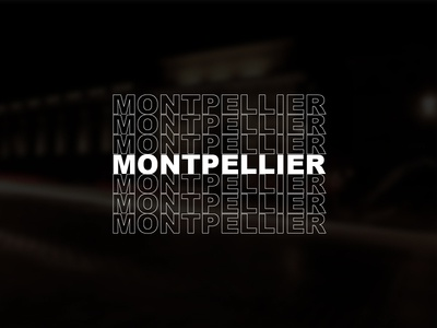 Snapchat Geofilter - Montpellier typography city geofilter snapchat helvetica typo font montpellier