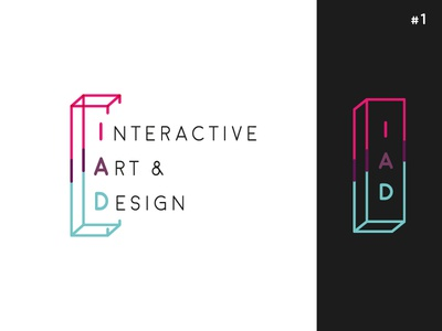 IAD School [ Concept #1 ] minimalist perspective smart geometric abstract 3d school logo
