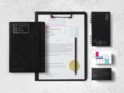 IAD School [ Mock up - Concept #1 ] perspective smart geometric abstract 3d school logo identity