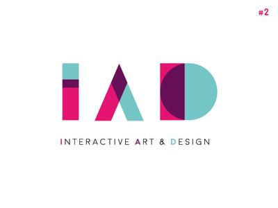 IAD School [ Concept #2 ] typography blend 3d color smart geometric abstract 3d school logo