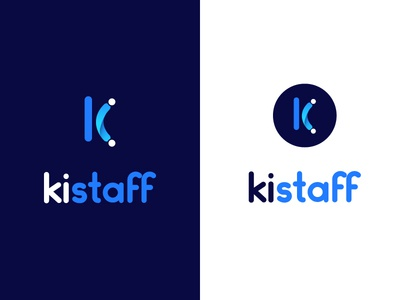 Logo concept for Kistaff people collaboration work logo staff logo logo concept flat design round logo k letter logo letter logo k letter design abstract logo