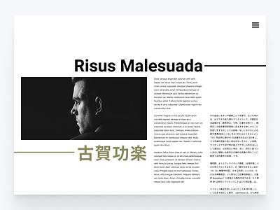 Web Portfolio Concept 3 web design minimal website web portfolio idea editorial design concept