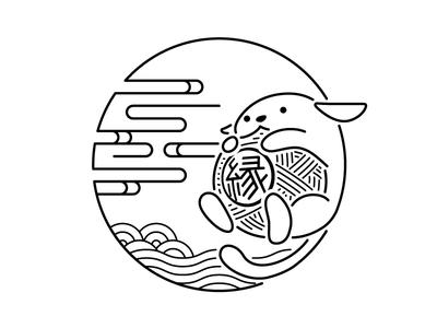 En Wapuu white black monotone minimal simple wapuu japan kyoto wordcamp wordpress