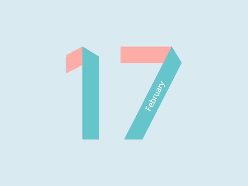 February 17 datetypography number typography february feb seventeen 17
