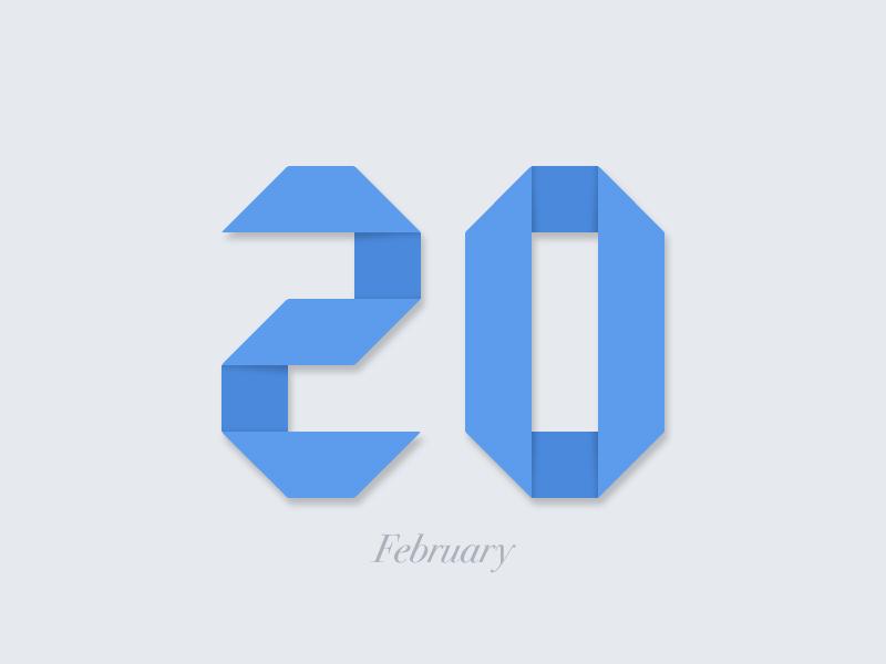 February 20 datetypography number typography february feb twenty 20