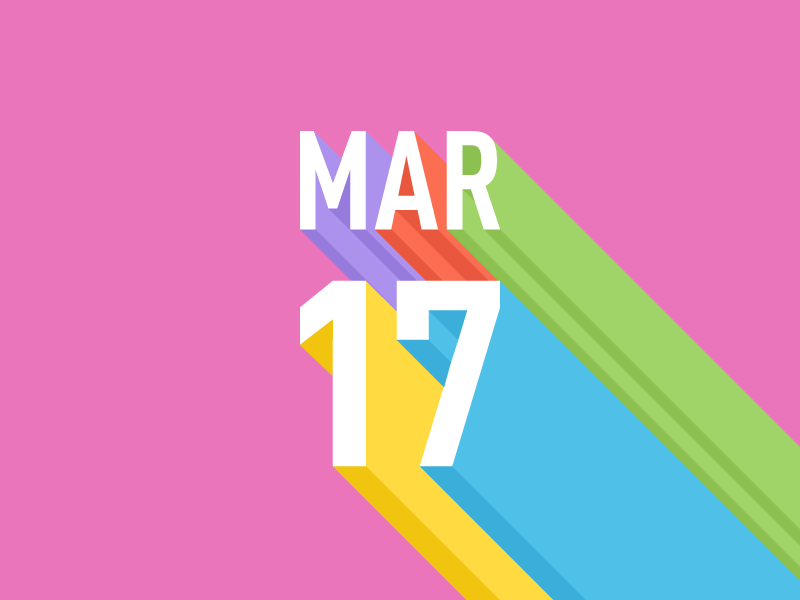 March 17 datetypography number typography march mar seventeen 17