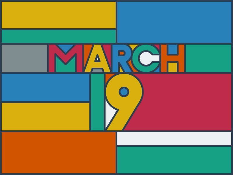 March 19 datetypography number typography march mar nineteen 19