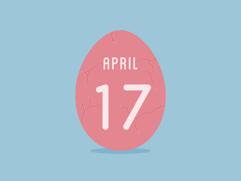 April 17 date datetypography number typography april apr seventeen 17