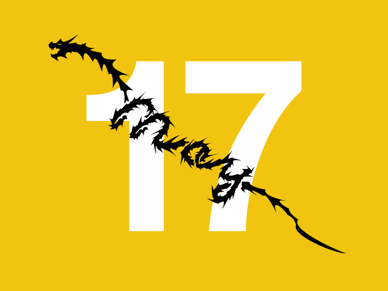 May 17 dragon date datetypography number typography may seventeenth seventeen 17th 17